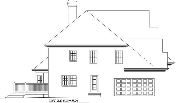 European House Plan 45852 with 4 Beds, 3.5 Baths, 2 Car Garage Picture 1