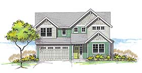 Country , Craftsman , Southern , Traditional House Plan 46265 with 4 Beds, 3 Baths, 2 Car Garage Elevation