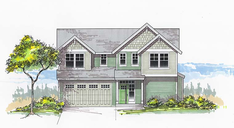 Country Craftsman Southern Traditional House Plan 46266 Elevation