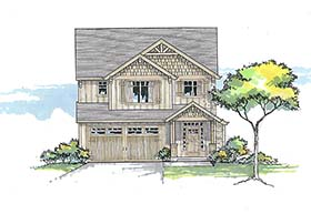 Bungalow Cottage Country Craftsman House Plan 46268 Elevation