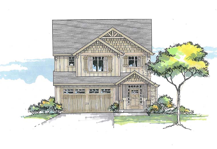 Country Craftsman Southern Traditional House Plan 46268 Elevation