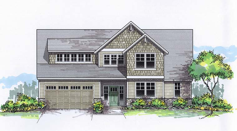 Craftsman Traditional House Plan 46275 Elevation
