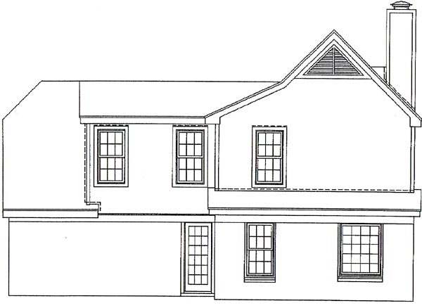 Traditional House Plan 46305 Rear Elevation