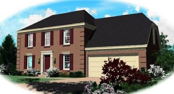 Traditional House Plan 46311 Elevation