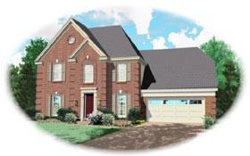 European House Plan 46313 Elevation