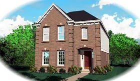 Colonial House Plan 46314 with 3 Beds, 2.5 Baths Elevation