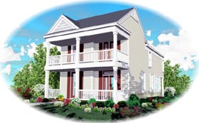 Southern House Plan 46316 with 3 Beds, 3 Baths, 2 Car Garage Elevation