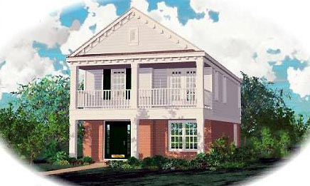 Colonial House Plan 46317 Elevation