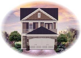 House Plan 46318 Elevation