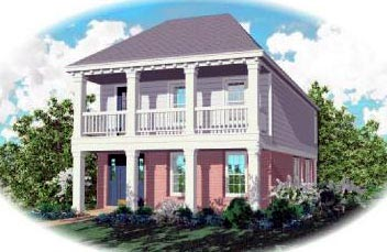 Colonial House Plan 46320 Elevation