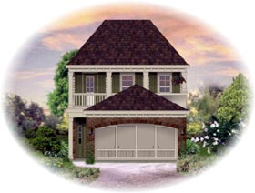 House Plan 46321 with 3 Beds, 3 Baths, 2 Car Garage Elevation
