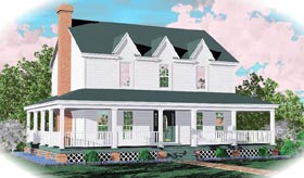 Country House Plan 46322 Elevation