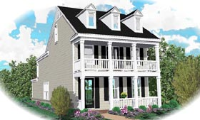 Colonial House Plan 46325 Elevation