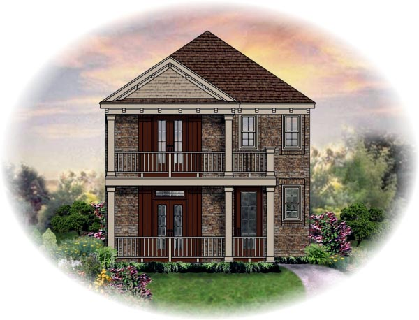 House Plan 46333 Elevation