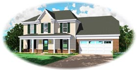 Country House Plan 46339 with 3 Beds, 3 Baths, 2 Car Garage Elevation