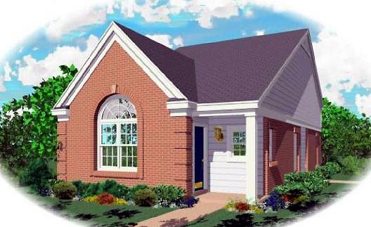 Ranch , Elevation of Plan 46340