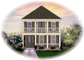 House Plan 46342 with 3 Beds, 3 Baths, 2 Car Garage Elevation
