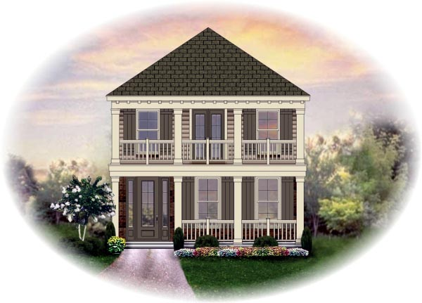 House Plan 46342 Elevation