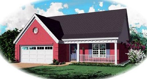 Ranch House Plan 46343 Elevation