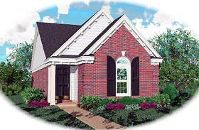 Ranch House Plan 46354 with 2 Beds, 2 Baths Elevation