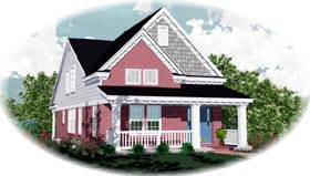 Country House Plan 46357 Elevation