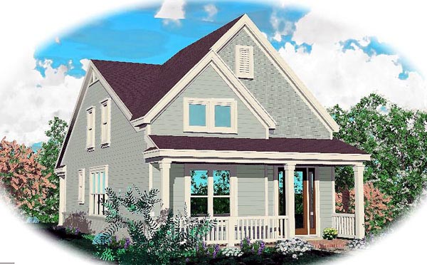Ranch House Plan 46358 Elevation