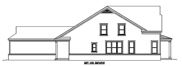 Narrow Lot, Ranch House Plan 46358 with 3 Beds, 3 Baths, 2 Car Garage Picture 1