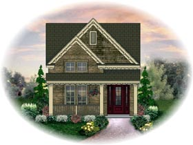 House Plan 46359 | Style Plan with 1573 Sq Ft, 3 Bedrooms, 3 Bathrooms, 2 Car Garage Elevation