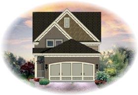 House Plan 46360 Elevation
