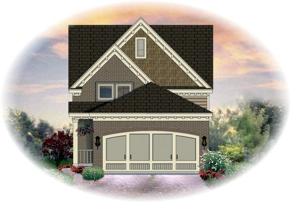 House Plan 46360 Elevation