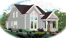 Traditional House Plan 46361 Elevation