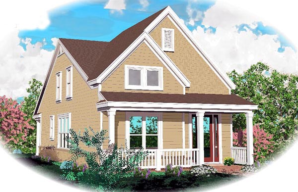 Traditional House Plan 46365 Elevation
