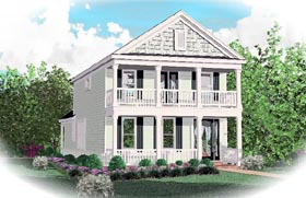Colonial House Plan 46368 Elevation