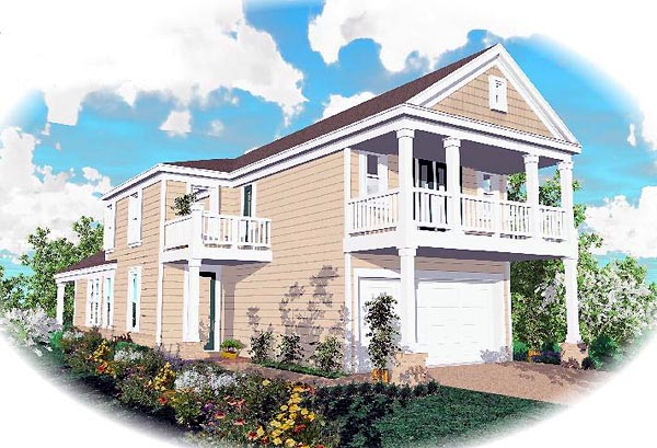 Colonial House Plan 46370 Elevation