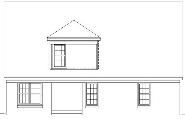 Traditional House Plan 46371 Rear Elevation