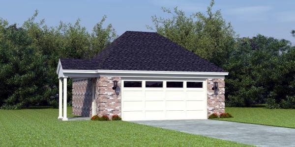 Hip roof garage plans with loft home desain 2018 for Hip roof garage plans