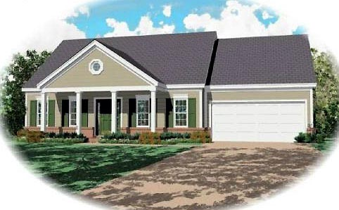 Ranch House Plan 46376 Elevation