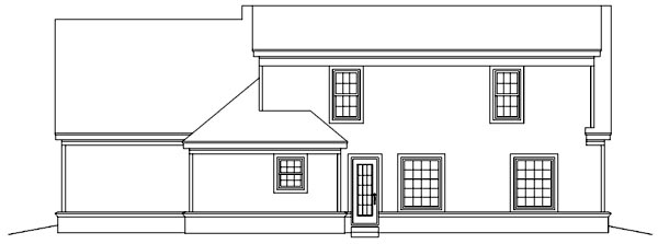 Ranch House Plan 46376 Rear Elevation