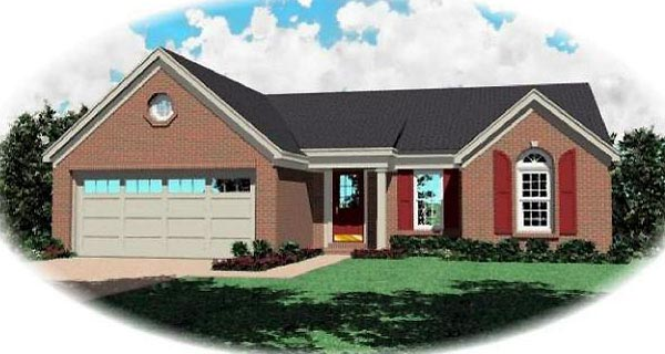 Ranch House Plan 46378 Elevation