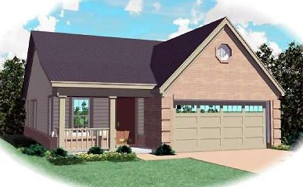 Ranch House Plan 46382 Elevation