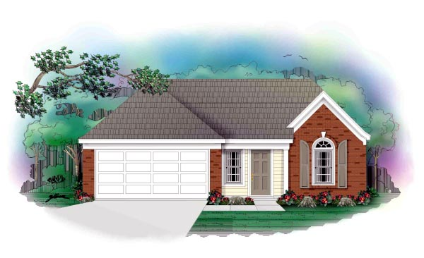Traditional House Plan 46384 Elevation
