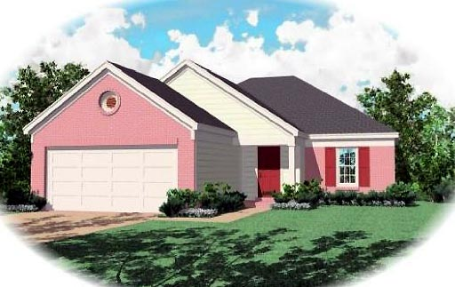 Ranch House Plan 46385 Elevation