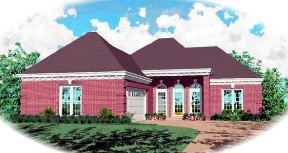 Ranch House Plan 46386 Elevation