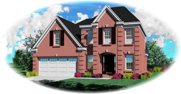 European House Plan 46388 Elevation