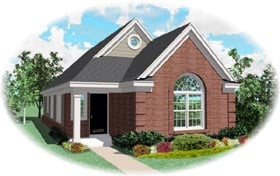 House Plan 46394 | Traditional Style Plan with 1255 Sq Ft, 3 Bedrooms, 2 Bathrooms Elevation