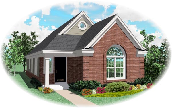 Traditional House Plan 46394 Elevation