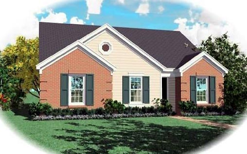 Ranch House Plan 46396 Elevation