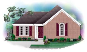 Traditional House Plan 46397 with 3 Beds, 2 Baths Elevation