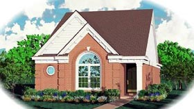 House Plan 46398 | Ranch Style Plan with 1270 Sq Ft, 3 Bedrooms, 2 Bathrooms Elevation