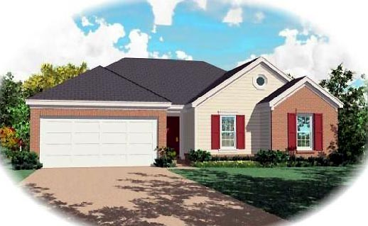 Ranch House Plan 46400 Elevation